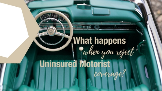 What happens when you reject uninsured motorist coverage for What is uninsured motor vehicle coverage